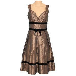 NEW Max & Cleo Vintage Party Dress Brown Sz 4